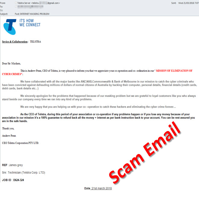 January 2017 - hoax email