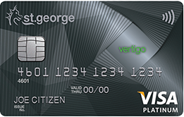 Vertigo Platinum credit card