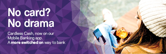 Cardless cash from St.George, now on our Mobile Banking app