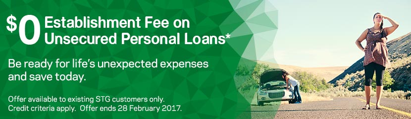 0 Establishment Fee on Unsecured Personal Loans. Be ready for life's unexpected expenses and save today with $0 establishment fee*