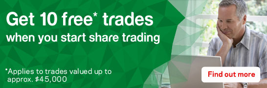 Get 10 free trades when you start share trading. Find out more.