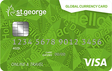 St George travel money card