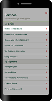 Update your contact details
