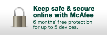 Keep sage & secure online with McAfee