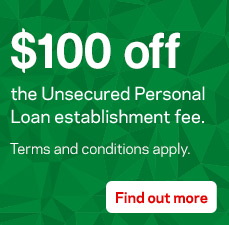 Want to take control? Get started with $100 off your Unsecured Personal Loan establishment fee*.