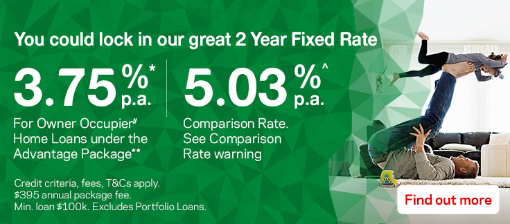 You could lock in our great 2 Year Fixed Rate. Credit criteria, fees, T&Cs apply. Find out more.