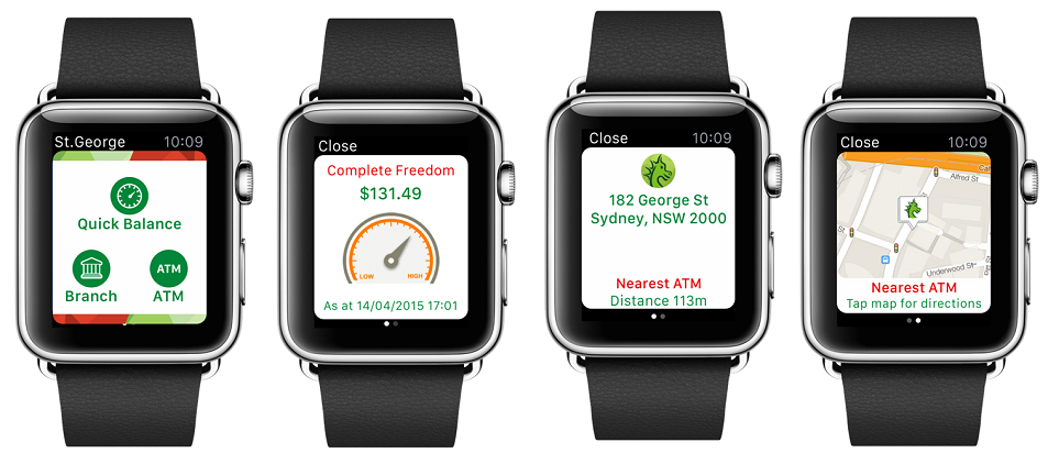 Apple watch with the St.George app