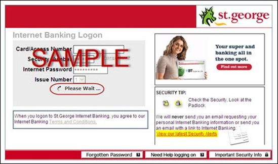 Hoax emails, security centre | St George Bank