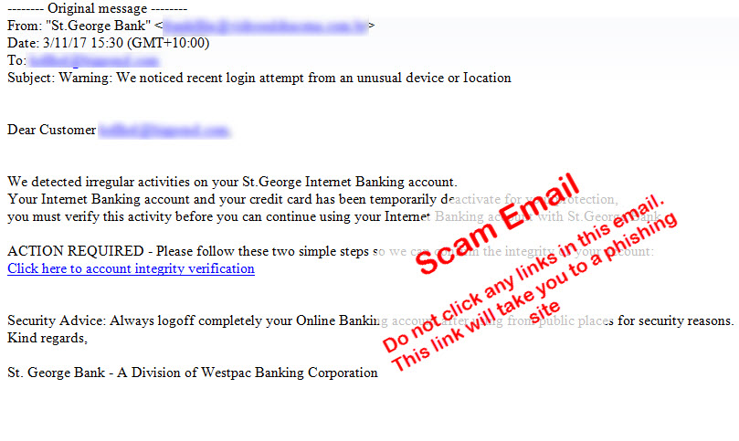 Latest Scams update, security centre | St George Bank