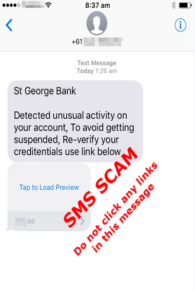 SMS Scam